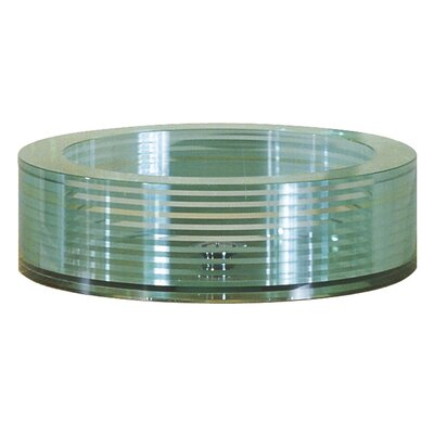 Round Tempered Segmented Glass Vessel Sink