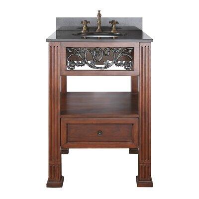 Napa 25 Single Bathroom Vanity Set Top Finish: Natural Black Granite