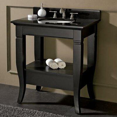Trumbauer 31 Single Bathroom Vanity Set Top Finish: Black Granite