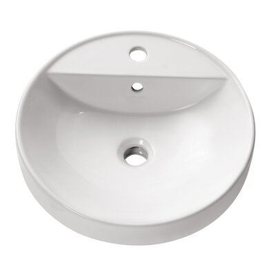 Circular Vessel�Bathroom�Sink with Overflow