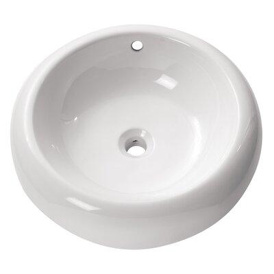 Circular Vessel�Bathroom�Sink with Overflow