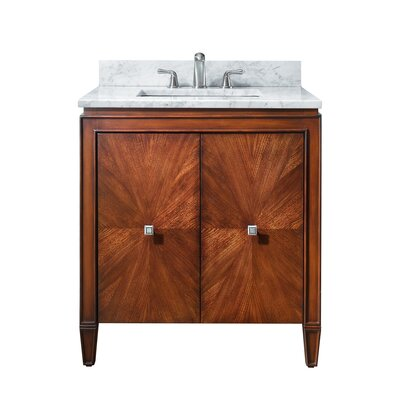 Brentwood 31 Single Bathroom Vanity Set Top Finish: Carrera White