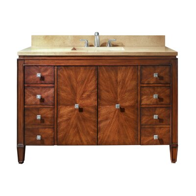 Brentwood 49 Single Bathroom Vanity Set Top Finish: Galala Beige