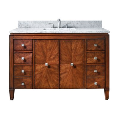 Brentwood 49 Single Bathroom Vanity Set Top Finish: Carrera White