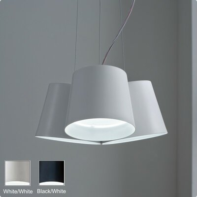 Amak 3-Light Pendant Finish: Black / White