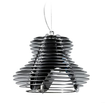 Faretto 1-Light Mini Pendant Shade Color: Black