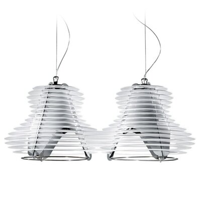 Faretto 2-Light Pendant Shade Color: White