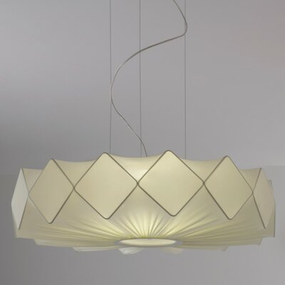 Gresy 5-Light Drum Pendant Shade Color: Ivory