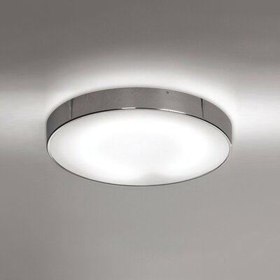 Inoxx 1-Light Flush Mount Size: 3 H x 19.25 W x 19.25 D