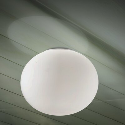 Gilbert 1-Light Flush Mount Size: 13 H x 17.75 W x 17.75 D