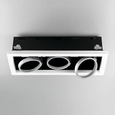 Invisibli Rectangle LED Recessed Multi-Spotlight Bulb: 3 x 12W LED Module AR111 G53 color Temp 3000K, Color: White