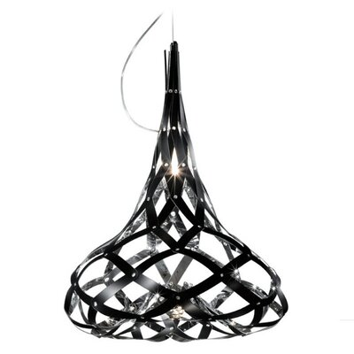 Super Morgana 1-Light Geometric Pendant Finish: Mirror / Black