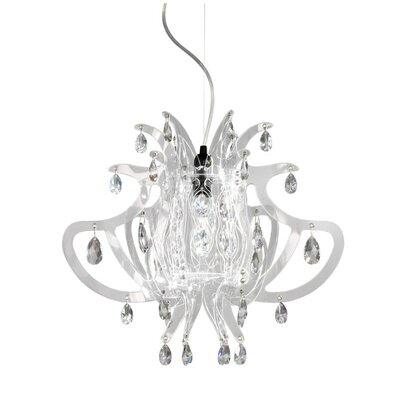 Lillibet 1 Mini Light Pendant Finish: Transparent
