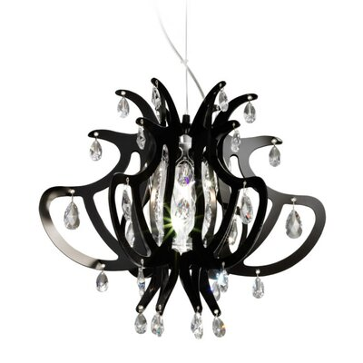 Lillibet 1-Light Crystal Pendant Finish: Black