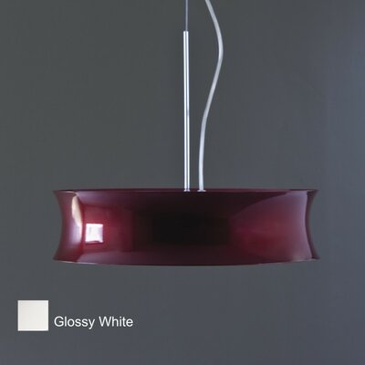 Funny 2-Light Drum Pendant Finish: Glossy White