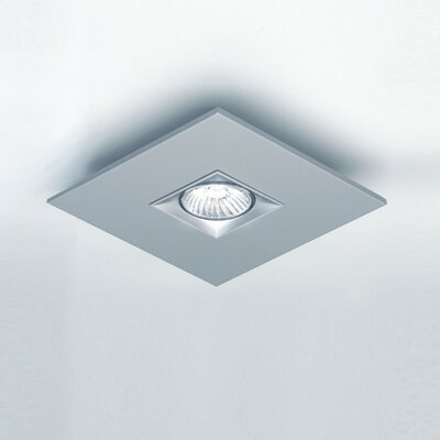 Polifemo 1-Light Semi Flush Mount Fixture Finish: White, Size: 3 H x 7.8 W x 7.8 D