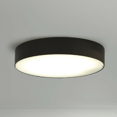 Lea 2-Light Flush Mount Finish: Anthracite Black