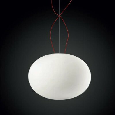Gilbert 1-Light Globe Pendant Size: 13 H x 17.75 W x 17.75 D, Bulb Type: LED Warm