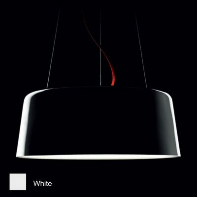 Blanca 1-Light Inverted Pendant Finish: Glossy White, Size: 9 H x 23.63 W x 23.63 D