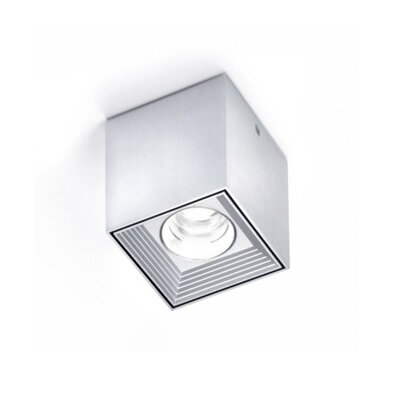Dau Spot 1-Light LED Flush Mount Finish: Satin Aluminum