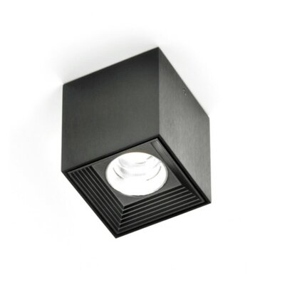 Dau Spot 1-Light LED Flush Mount Finish: Black Satin Aluminum