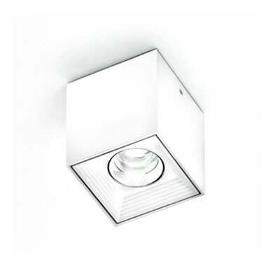 Dau Spot 1-Light LED Flush Mount Finish: White