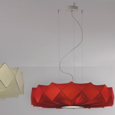 Gresy 5-Light Drum Pendant Shade Color: Red