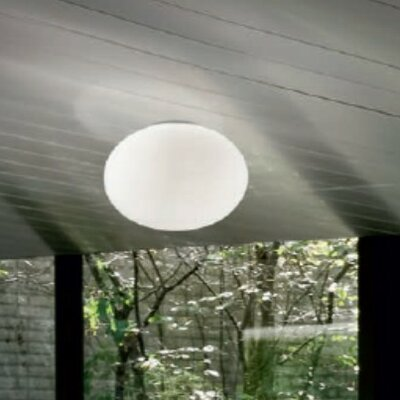 Gilbert 1-Light Flush Mount Size: 10.67 H x 14.57 W x 14.57 D