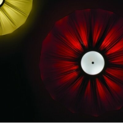 Gresy 4-Light Flush Mount Shade Color: Red