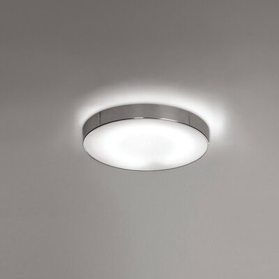 Inoxx 1-Light Flush Mount Size: 3 H x 14.5 W x 14.5 D