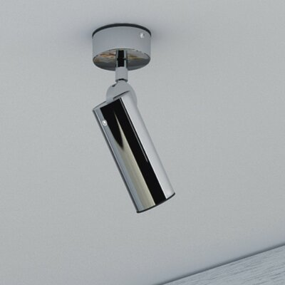 Tub 1-Light Semi Flush Mount Finish: White, Size: 6.25 H x 3.88 W x 2.13 D