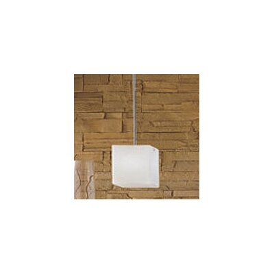 Kubik 1-Light Mini Pendant Size: 50.5 H x 4.25 W x 4.25 D