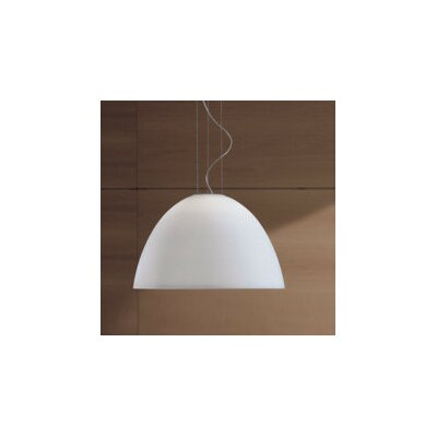 Willy 1-Light Inverted Pendant Size: 14.63 H x 23.63 W x 23.63 D, Finish: Metallic Gray with White Glass