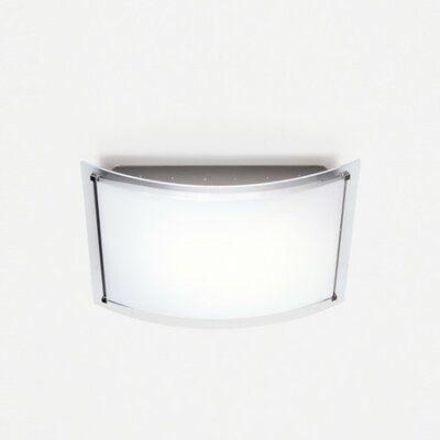 Vision 1-Light Flush Mount Size: 17.75 H x 12.5 W x 4 D