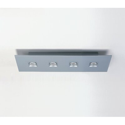 Polifemo 4-Light Flush Mount with White Glass