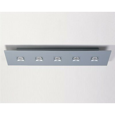 Polifemo 5-Light Flush Mount with White Glass