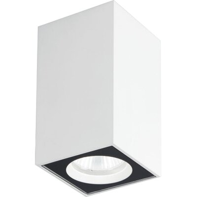 Cu-Bic 1-Light Flush Mount Finish: Brushed Aluminum