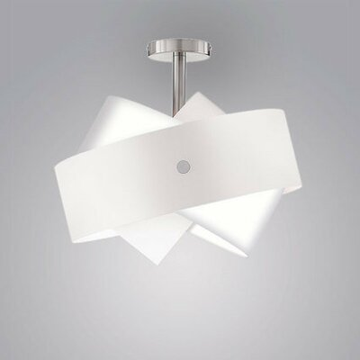 Tourbillon 1-Light Semi-Flush Mount