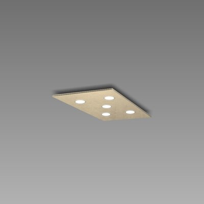 Pop 5-Light Flush Mount Fixture Finish: Gold Silver