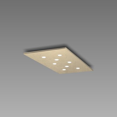 Pop 8-Light Flush Mount Fixture Finish: Gold Silver