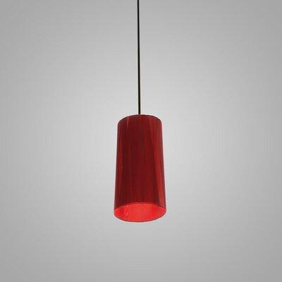 Dress 1-Light Mini Pendant Finish: Red