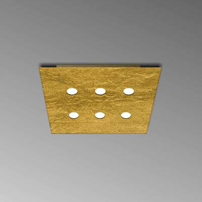 6-Light Flush Mount Fixture Finish: Gold Leaf
