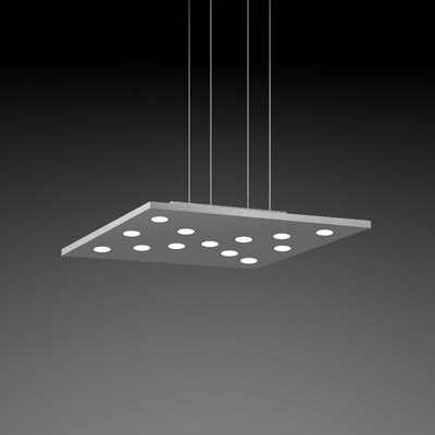 Pop Suspension 11-Light Pendant Fixture Finish: Gray/Aluminum