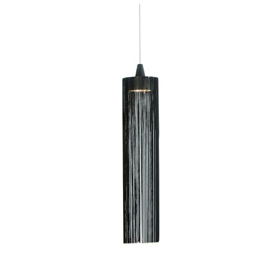 1-Light Foyer Pendant Finish: White/Black