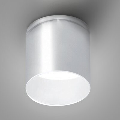 Kone 1-Light LED Directional and Spotlight Fixture Finish: Aluminum/White