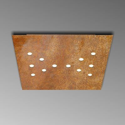 12-Light Flush Mount Fixture Finish: Rust