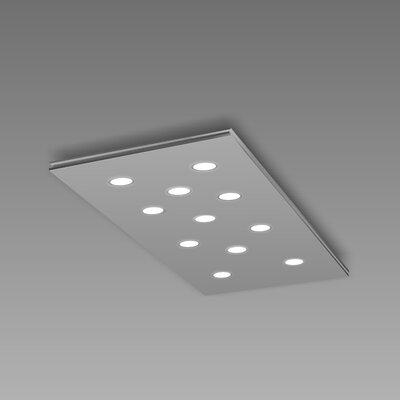 Pop 11-Light Flush Mount Fixture Finish: Gray/Aluminum