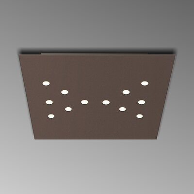 12-Light Flush Mount Fixture Finish: Mocha