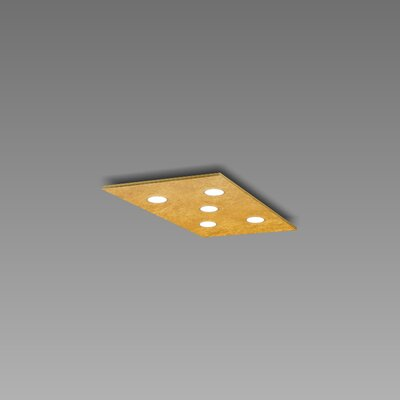 Pop 5-Light Flush Mount Fixture Finish: Gold Leaf/Brushed Gold
