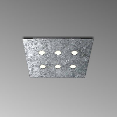 6-Light Flush Mount Fixture Finish: Silver Leaf